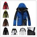 CALIENTE Para Hombre chaquetas y abrigos a prueba de Viento Impermeable de Cáscara Suave Polar (6 Color) S-XXL (SM0042) Fábrica