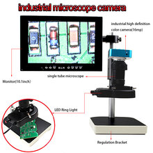 Best price Microscope sets 16MP HDMI Output Video Digital Adjustable Microscope Camera for Electronic phone Computer Repair tools