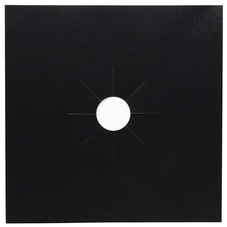 Плита горелки чехлы-8 шт. черный газовый диапазон протекторы для плиты комплект с 2 шт. духовка/подкладка для гриля, многоразовые