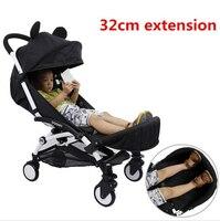 Generic Booster Seat Footrest Bumper bar with Feet Rest Foot Extension Footmuff for Babyzen YaYa Stroller Pram baby stroller