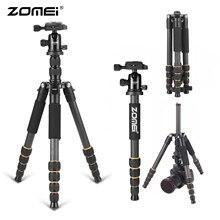 Zomei tripode q666c 탄소 섬유 유연한 사진 삼각대 전문 삼각대 전화 dslr 카메라 스탠드 monopod 스마트 폰