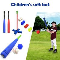 Kids Safety Soft Foam T Ball Baseball Training Set Toy 8 Different Colored Balls Include Organize Bag for Kids Over 1 Years Old
