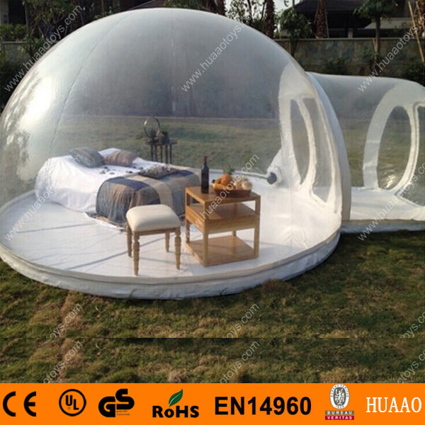 Tente gonflable de bulle de prix le plus bas avec le ventilateur libre de CE/UL