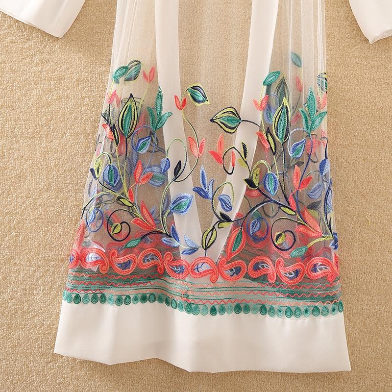 HTB1dHbTjIyYBuNkSnfoq6AWgVXa1 New Women Floral Embroidered Long Jacket Summer Net Cardigan Casual Long Sleeved Thin Coats Ladies Vintage Beach White Outerwear