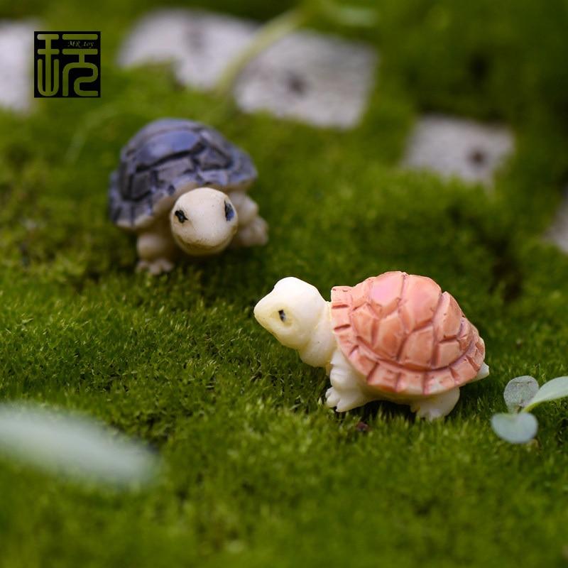 Mini Tortoise Model Fairy Garden Miniatures DIY Doll House/ Terrarium/ Home Desktop/ Succulents/ Micro Landscape Decoration