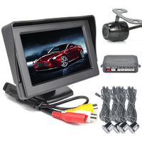 4.3 Inch Rearview LCD Monitor With Camera And Radar Parking System