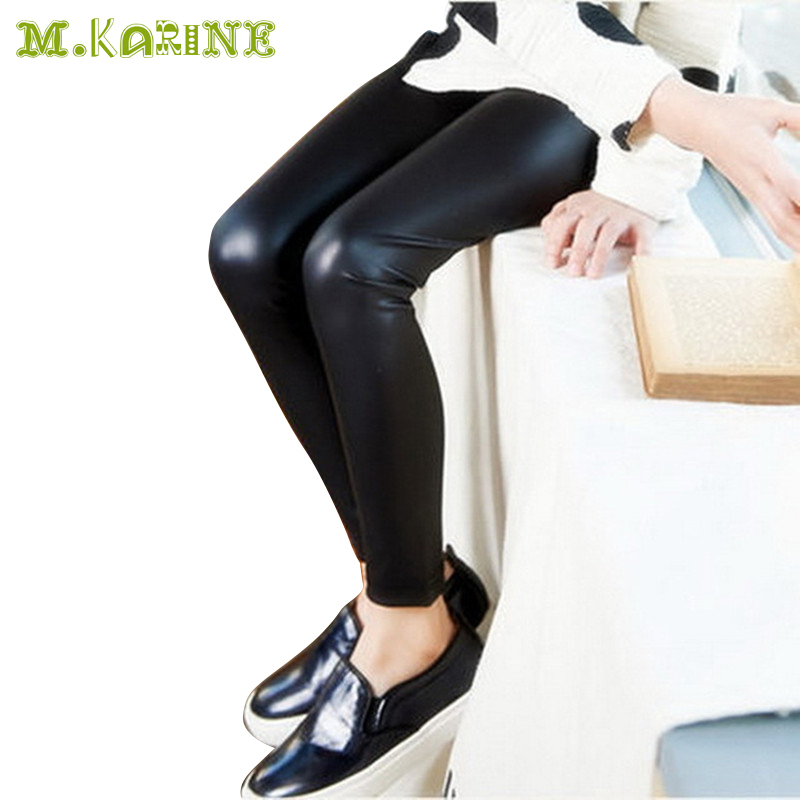 New Hot Childrens Clothing Girls Leather Pants Spring -9094