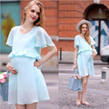 Maternity Fashion Dress Causal Dresses for Pregnant Short Sleeve Summer Women's Clothing Home Clothing Mother LM40