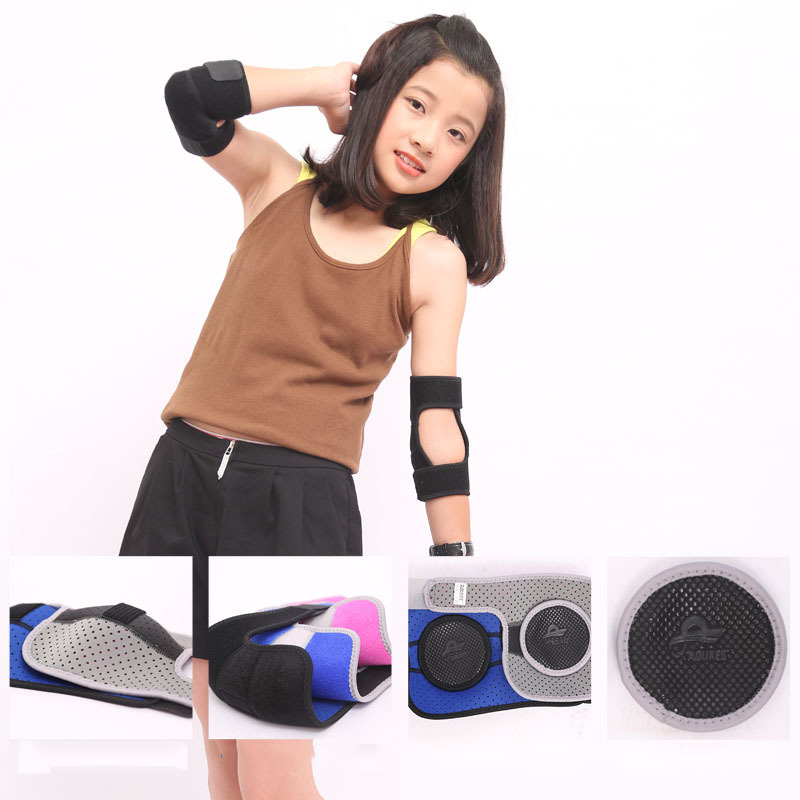 1pair Kids Children Sports Elbow Support Outdoor Roller-skating Dancing Playing Armguards Joint Protector Elbow Pads Girl Boy