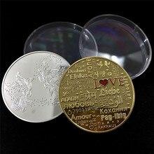 Commemorative-Coin Souvenir Lucky-Coin Couple Collection Romance Love Art-Gifts Words