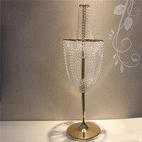 luxury Tall crystal Wedding Centerpiece crystal wedding cake stand flower stand chandelier wedding pillar