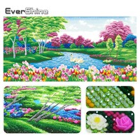 EverShine Special Shaped Diamond Embroidery Painting Living Room Decor Pictures Of Rhinestones Pasted Diamond Mosaic Scenery