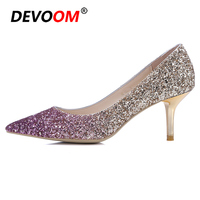 Fashion Fur Heels Red Sole Shoes Chaussure Talon Red Bottom Heels Slip on Jelly Shoes Woman Sequined Cloth Shoes Woman Summer 39