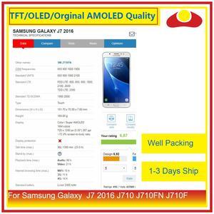 Image 3 - 50 ชิ้น/ล็อตสำหรับ Samsung Galaxy J7 2016 J710 J710FN J710F J710 จอ lcd หน้าจอแผง Digitizer Pantalla ที่สมบูรณ์แบบ