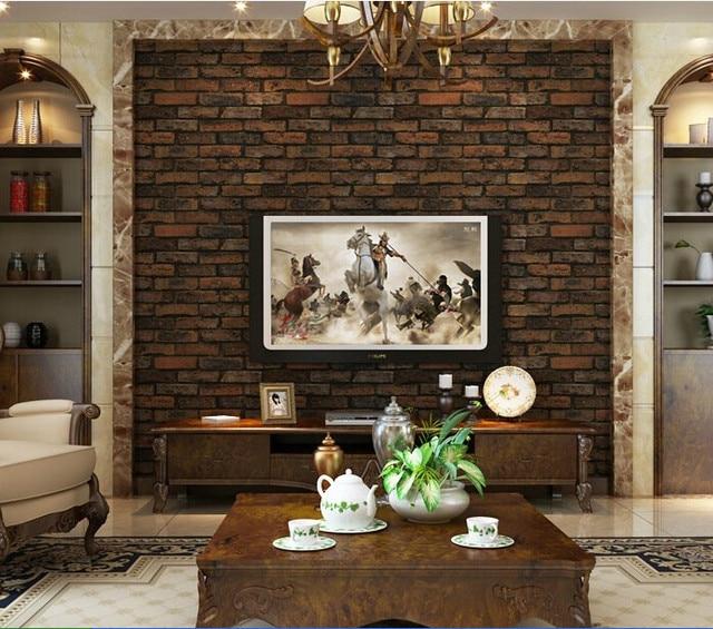 Brick Wall Paper Pvc Natural Wallpaper Living Room Tv Sofa Background Tiles Covering Rolo Papel De Parede Moderno