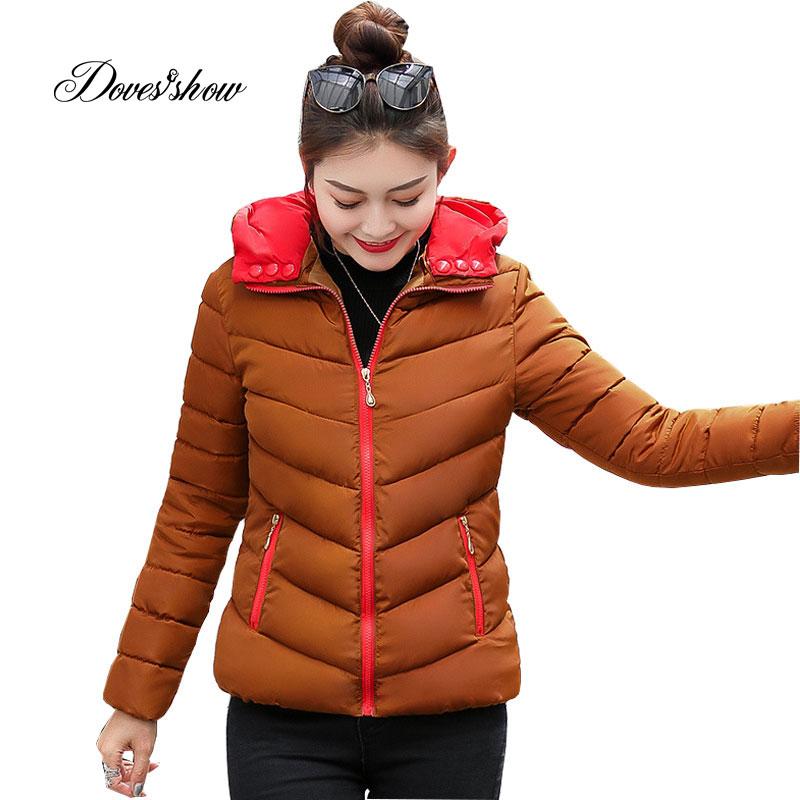 Hat Detachable Hooded Elastic Winter   Down     Coat   Jacket Thick Warm Slim Women Casaco Feminino Abrigos Mujer Invierno 2018 Parkas