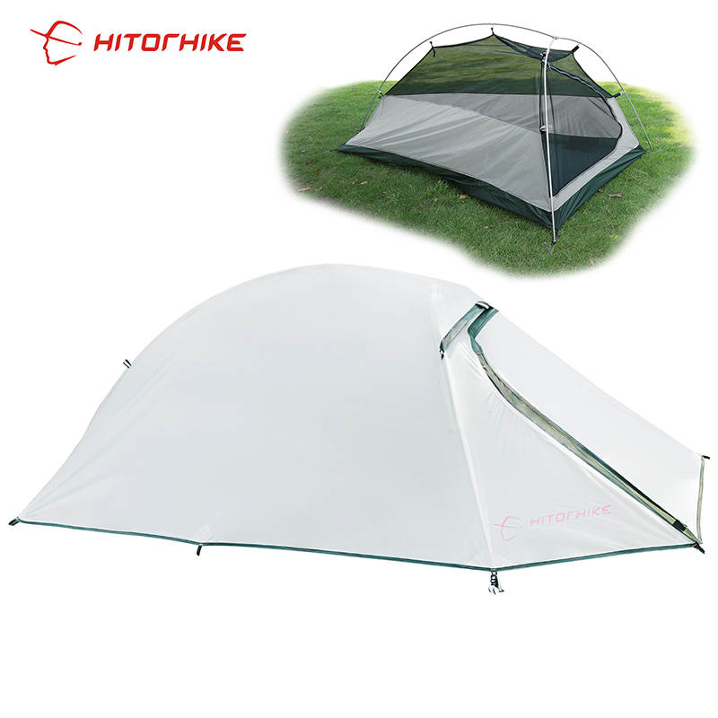 Hitorhike Tent 1500g Silicon Coating l Ultralight 3 Seasons UV-resistan 1 Person Camping Hiking Tent Easy Tent  Carry Bag TravelHitorhike Tent 1500g Silicon Coating l Ultralight 3 Seasons UV-resistan 1 Person Camping Hiking Tent Easy Tent  Carry Bag Travel