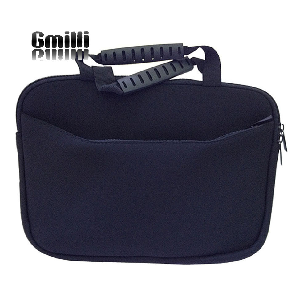 Gmilli negru Neopren Laptop Sleeve Geantă mâner sac Geantă de - Accesorii laptop