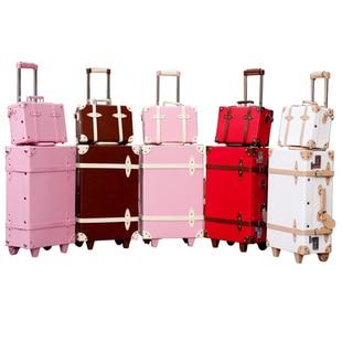 Aliexpress.com : Buy Vintage luggage trolley luggage travel bag ...