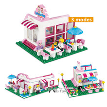 264pcs Boutique GIRLS Friends Shop Bar Princess Park City Creator 3in1 Building Blocks Brick Figures Gifts Educational Toys Emma