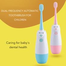 Ultrasonic Kid Toothbrush Waterproof ABS Plastic Carton Soft Brush Tooth Electric AAA Battery Teeth