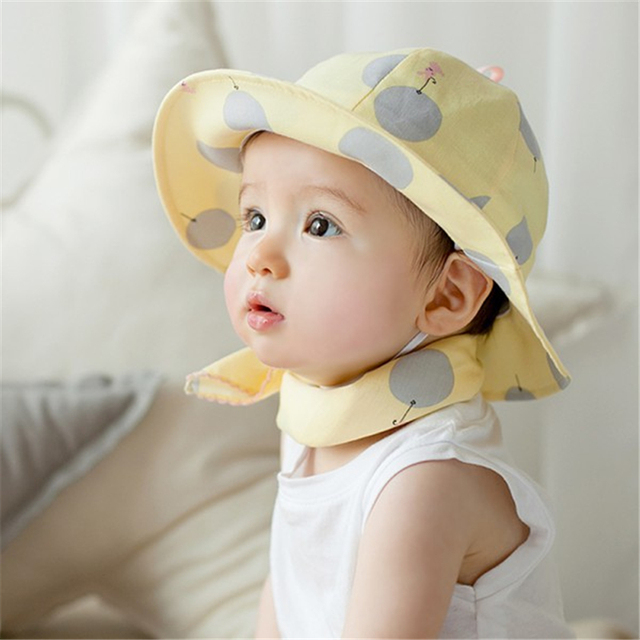 Polka Dot Summer Outdoor Baby Girl Hats