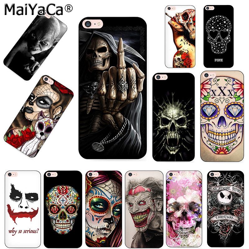 MaiYaCa Grim reaper skull skeleton Soft silicone Phone Case Cover Fundas For iPhone 5s 6s 11pro 7plus 8plus X XS MAX XR case(China)