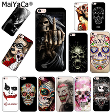 MaiYaCa Grim reaper skull skeleton Soft silicone Phone Case Cover Fundas For iPhone 5s 6s 11pro 7plus 8plus X XS MAX XR case