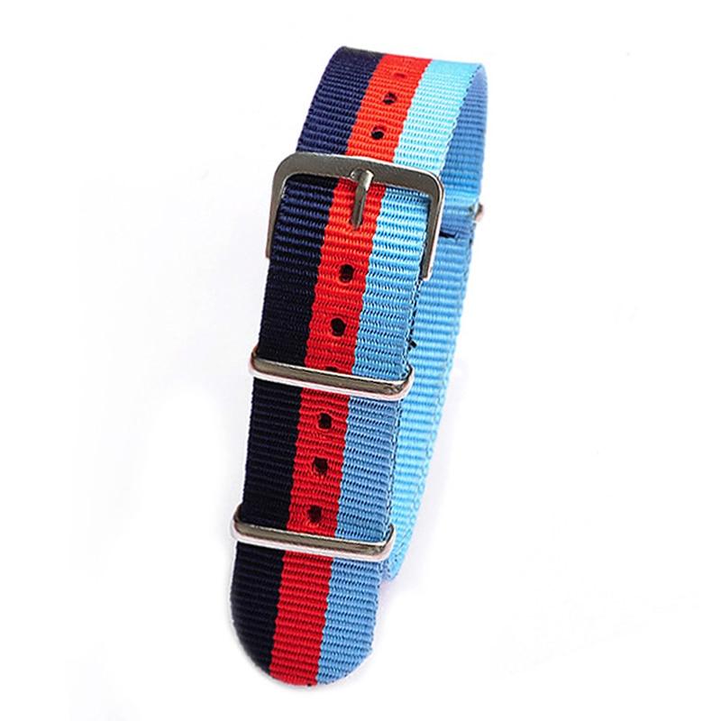 18 20 22MM  dark blue Red blue Sports nato fabric watch band straps nylon accessories watchband steel Buckle belt Watch Strap napapijri guji check dark blue