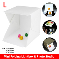 Large Size Mini Folding Lightbox Photography Studio Softbox LED Light Soft Box Camera Photo Background Box Lighting Tent Kit