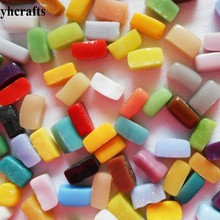 1100PCS/1000gram/Lot,Mixed color mosaic strip,Mosaic beads,Craft material,DIY accessories,Home art,Garden decoration.12mm*6mm