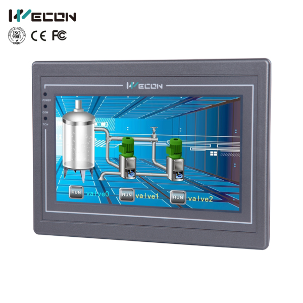 Wecon 7 inch pi8070 advanced HMI with RS232 RS422 RS485 interface цена и фото