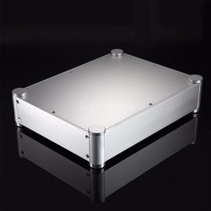 Image 4 - Nobsound Pre Amplifier Box Headphone Amp Case DAC DIY Chassis Aluminum Enclosure Silver