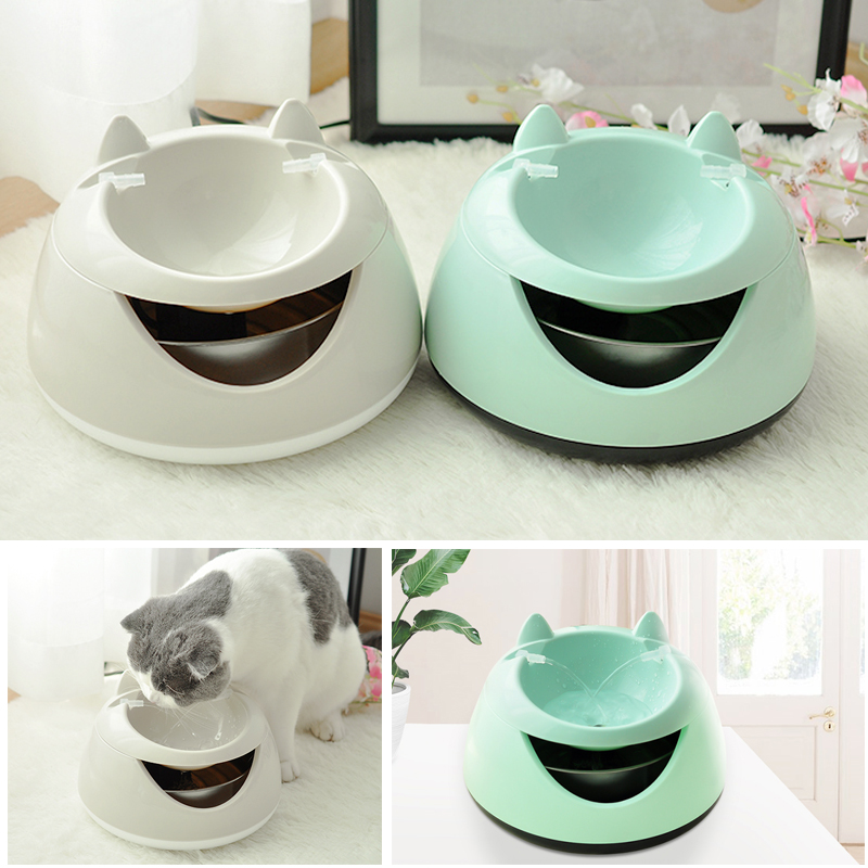 New 1.5L Dog Cat Drinker BowlPet automatic drinking fountain with luminous lamp cat automatic circulation filter water feeder