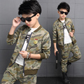 Foreign Trade 2017 Spring Fall New Children's Cotton Clothing Set Boys Army Camouflage Uniform Clothes 2 Pcs Kid Sport Suit G806