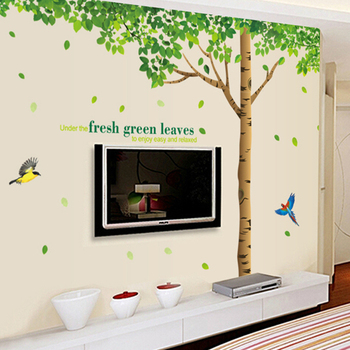 The sitting room the bedroom TV sofa background wall stickers can remove the wall stickers on the wall