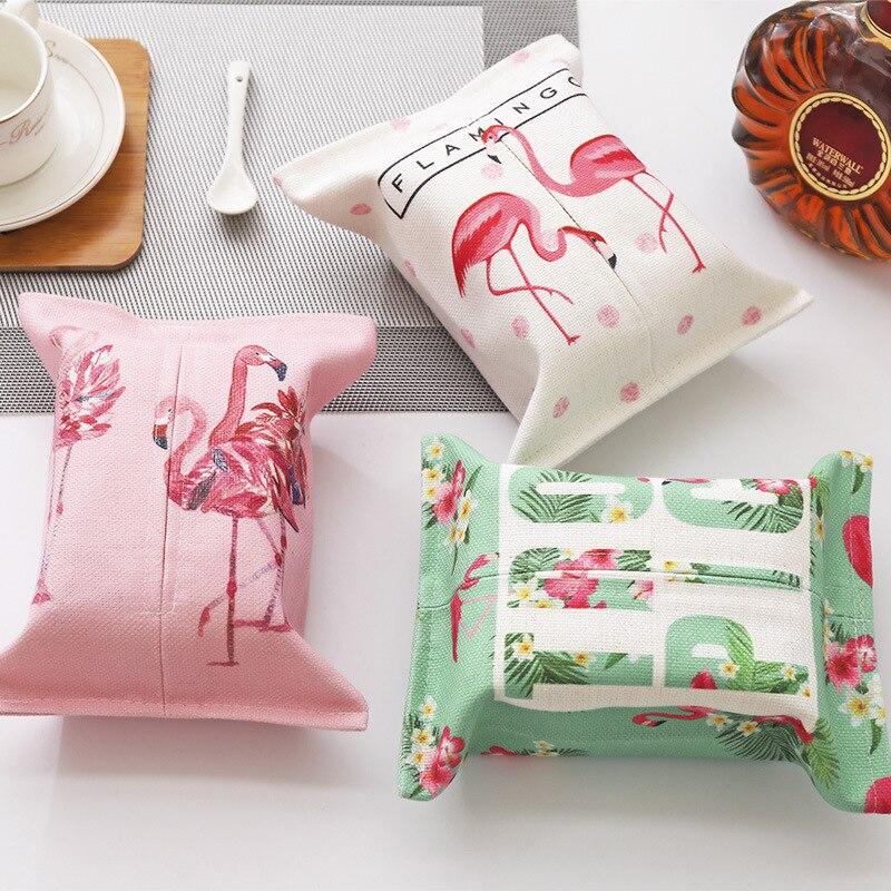 Flamingo Katoen Linnen Art Papieren Handdoek Tekening Compact Woonkamer Eetkamer Papieren Handdoek Winkelwagen Papieren Handdoek Doos Aangenaam Om Te Proeven