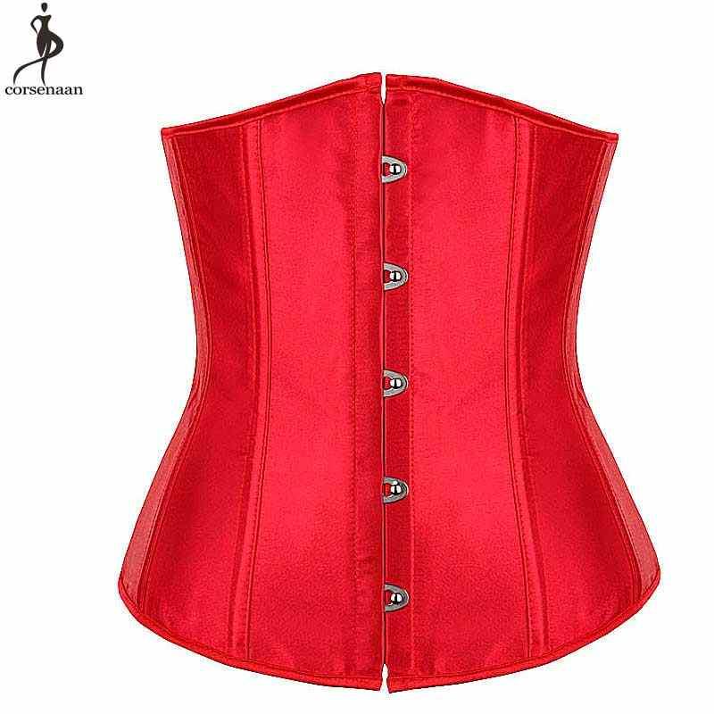f09df4dc0d835 Сексуальный красный корсет под грудь Корсеты на талию для похудения для  женщин Push Up Korset Готический