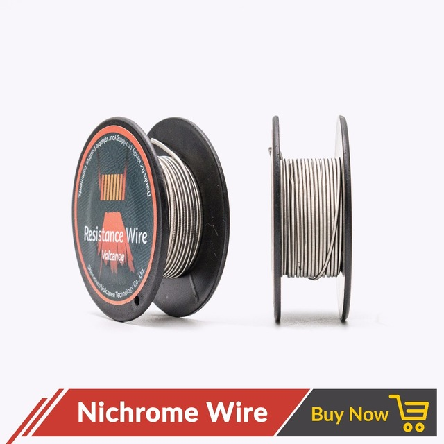 Volcanee 5m/roll Ni80 Nichrome Clapton Coil Wire for RDA RBA ...