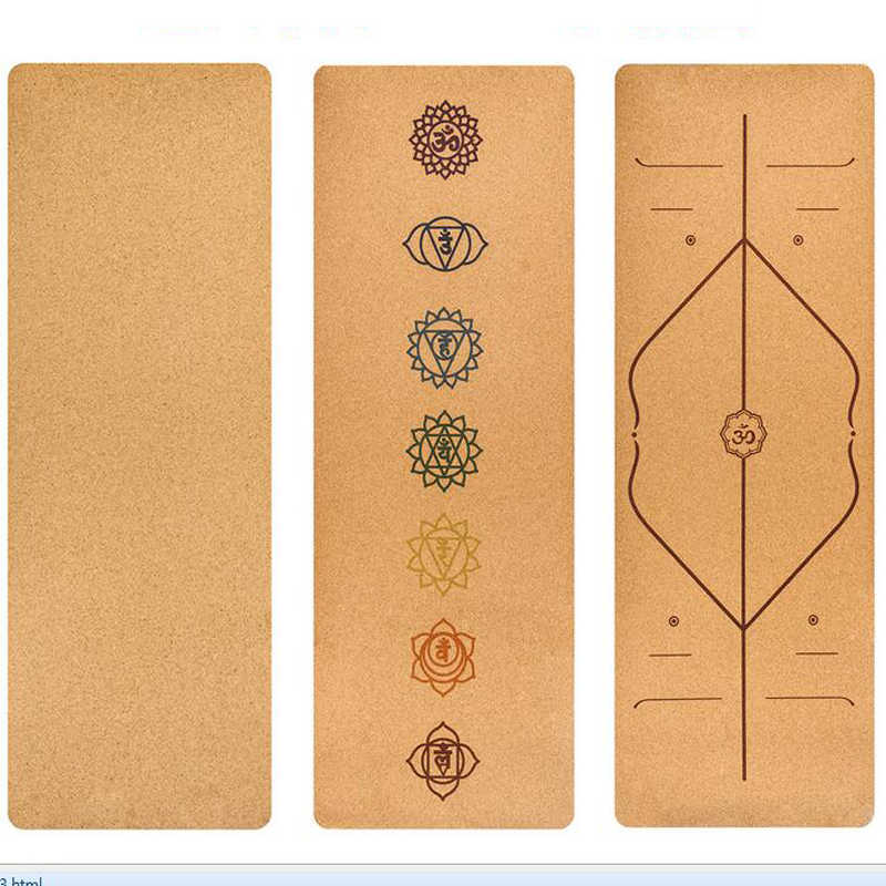 5mm TPE Cork Yoga Mat Body Exercise Yoga Mat Non-Slip Absorb Sweat Pialate Mats For Fitness Body link Yoga Pads Gym Sports Tool