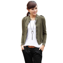 Coats Real Full Epaulet Casual Stand No Spring And Autumn Women Jacket 2017 Europe The New Slim Was Thin Shorts Female Bl139e