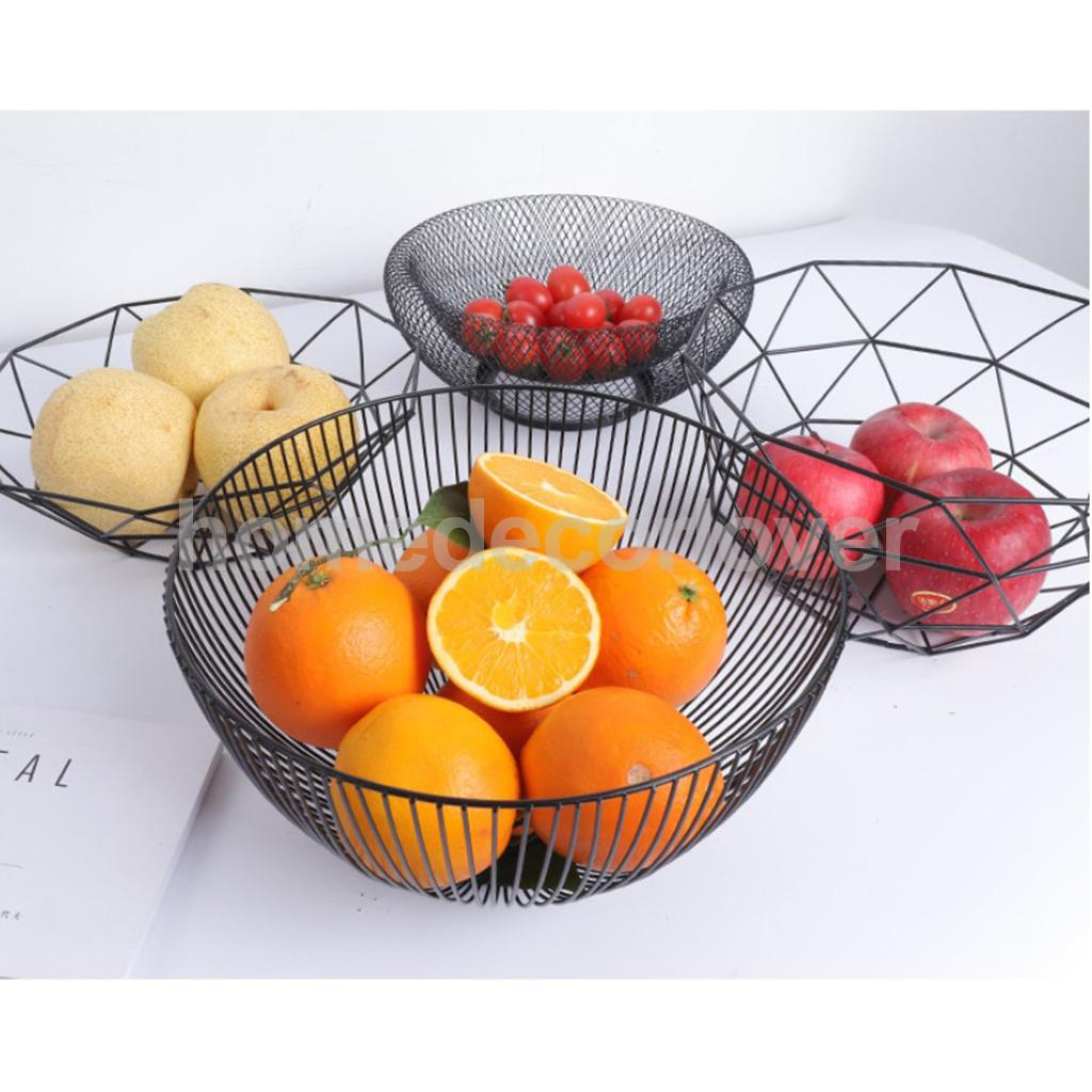 Wire Fruit Bowls Us 11 45 18 Off Metal Wire Fruit Basket Bowl Food Serving Dish Candy Biscuit Snack Tray 10inch In Bowls Plates From Home Garden On