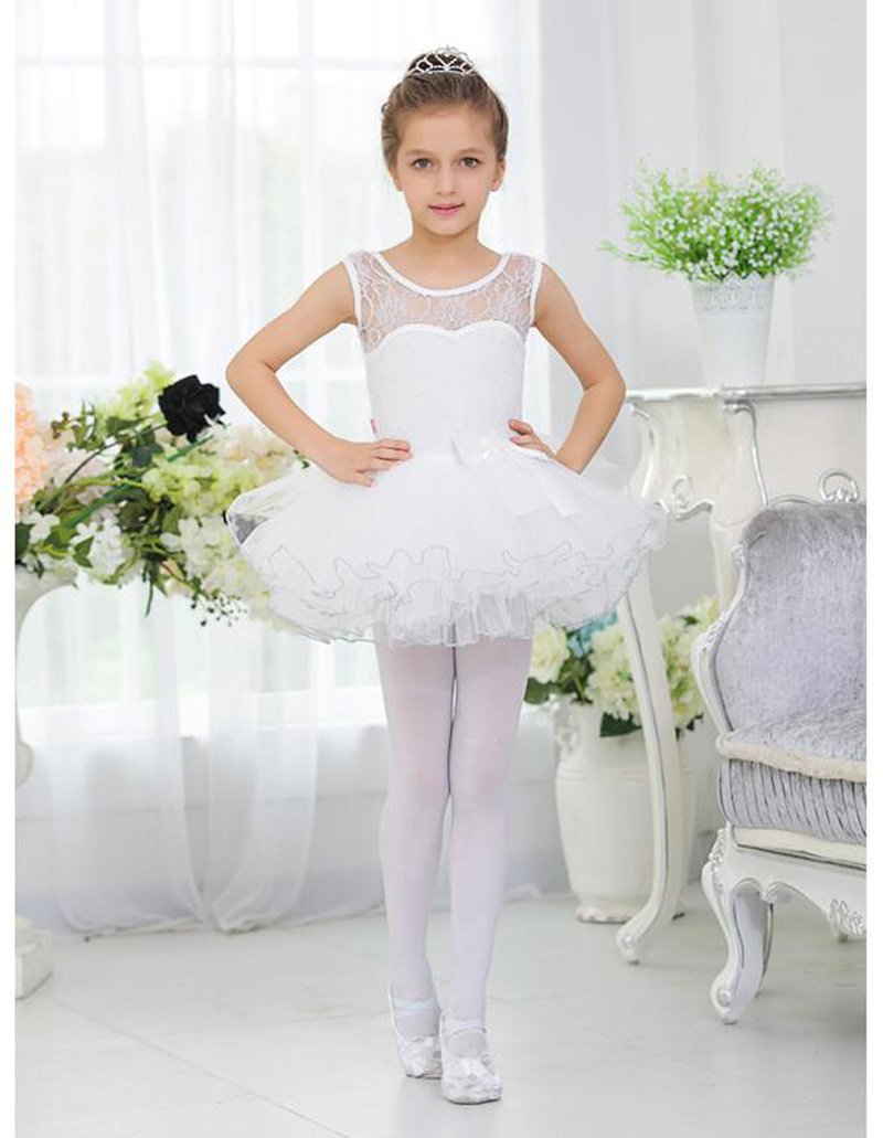 Ballet Dance Costume For Girls New High Quality Lace Sleeveless Children Stage Dancing Wear Kids Ballet Tutu