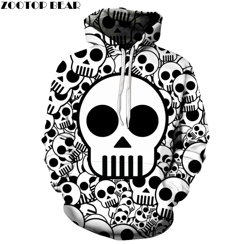 Cute Skull Printed Brand 3D Hoodies Men Women Sweatshirts One Piece Anime Pullover Hooded Autumn 6XL Tracksuits Boy Hoodie