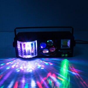 Image 5 - Djworld led laser estroboscópio 4in1 dmx efeito de palco luzes para dj discoteca dança piso festa iluminação laser projetor