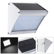 LED Solar Light with Microwave Radar Motion Sensor,24 LEDs Power Wall Lamp for Outdoor/ Garden/ Yard/ Street