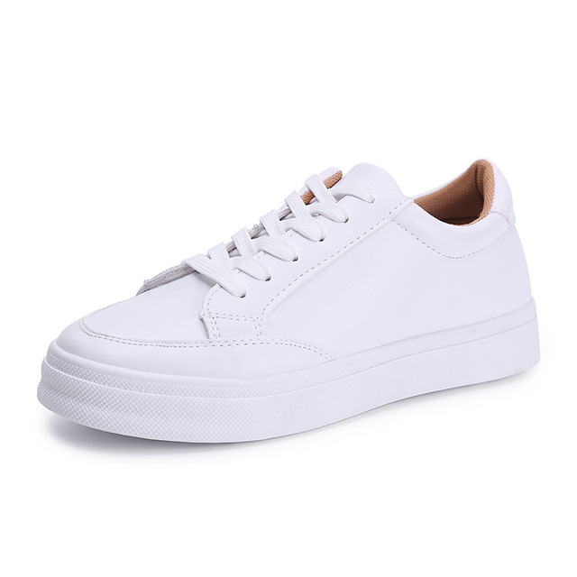 RIGESS New 2017 Spring Summer Shoes Women Flats Soft Leather Fashion Women s  Casual White Shoes Breathable Comfortable Big 40 52123e3aba1d