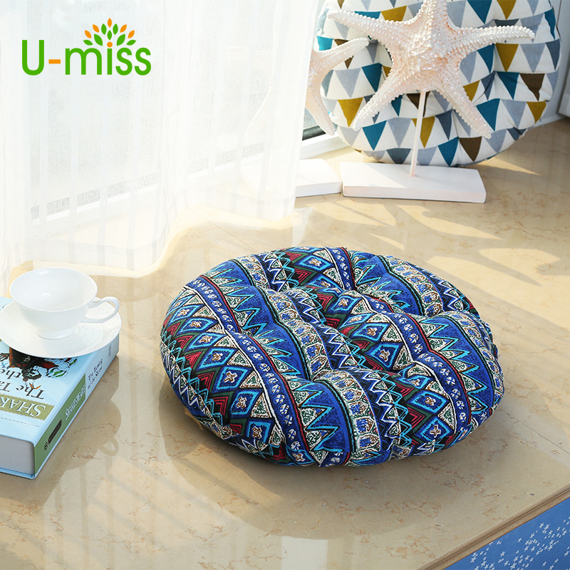 umiss colorful seat bohemia simple style thick cotton chair cushions round floor tatami cushion