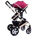 Carrinho de Bebê Do Assento de alta Qualidade Ampliar Pode Sentar Mentindo Carrinhos para Recém-nascidos À Prova de Choque de Carro Do Bebê Dobrável Carrinhos de Alta Paisagem C01