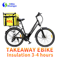 Long range вынос быстрая Доставка еды Электрический велосипед грузов e велосипед